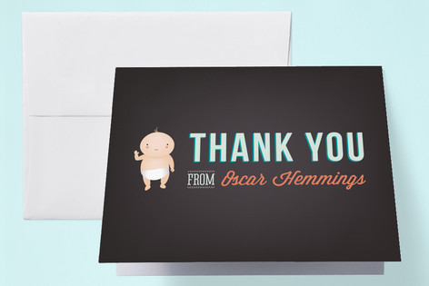 Cheers to Baby Baby Shower Thank You Cards