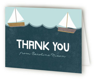 Ahoy Little Boy Baby Shower Thank You Cards