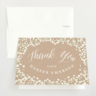 Baby's Breath Baby Shower Thank You Cards