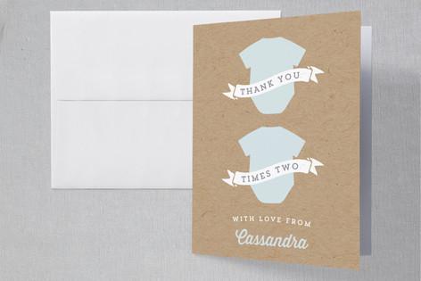 Onesie Twosie Baby Shower Thank You Cards