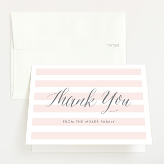 Sleek Baby Shower Thank You Cards