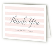 This is a pink baby shower thank you card by Lauren Chism called Sleek with standard printing on strathmore in standard.