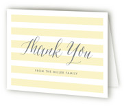 This is a yellow baby shower thank you card by Lauren Chism called Sleek with standard printing on strathmore in standard.