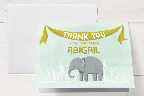 Elephamily Baby Shower Thank You Cards