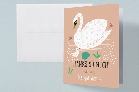 Swan Baby Shower Baby Shower Thank You Cards