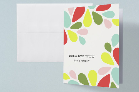 mod Baby Shower Thank You Cards