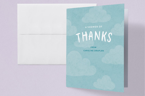 The Forecast Baby Shower Thank You Cards