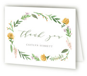 This is a brown baby shower thank you card by Amy Kross called English Garden with standard printing on strathmore in standard.