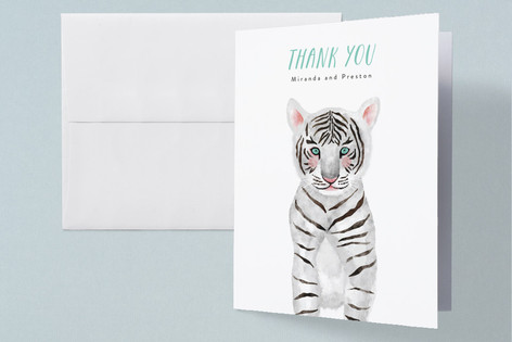 Baby Animal Tiger Baby Shower Thank You Cards