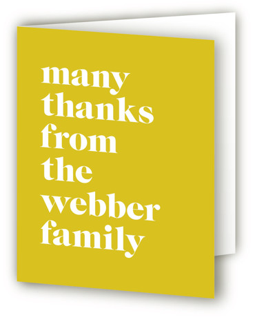Modern Block Baby Shower Thank You Cards