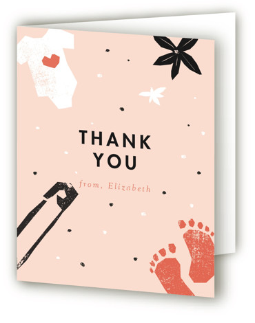 baby shower cut outs Baby Shower Thank You Cards