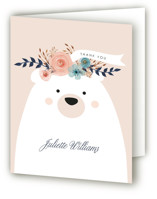 This is a pink baby shower thank you card by Hannah Williams called Mama Bear, Baby Bear with standard printing on strathmore in standard.