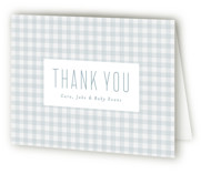 This is a blue baby shower thank you card by Lea Delaveris called Charming with standard printing on strathmore in standard.