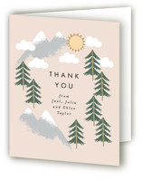 This is a brown baby shower thank you card by Alethea and Ruth called Adventure on the horizon with standard printing on strathmore in standard.