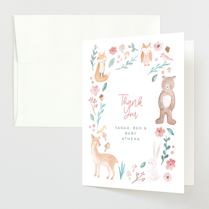 """""""garden baby"""" - Whimsical & Funny Baby Shower Thank You Cards in Sage by peetie design."""