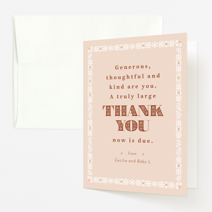 """""""Great Mama"""" - Baby Shower Thank You Cards in Candy by Kelsey Mucci."""