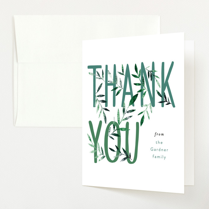 """""""Growing Family"""" - Baby Shower Thank You Cards in Forest by Alethea and Ruth."""