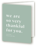 This is a green baby shower thank you card by Amy Payne called Ton of Stuff with standard printing on strathmore in standard.