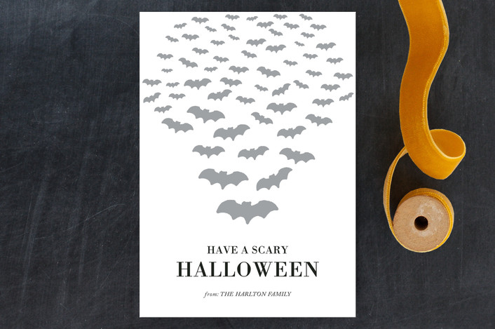 """Scary Bats"" - Halloween Petite Cards in Smoke by aticnomar."