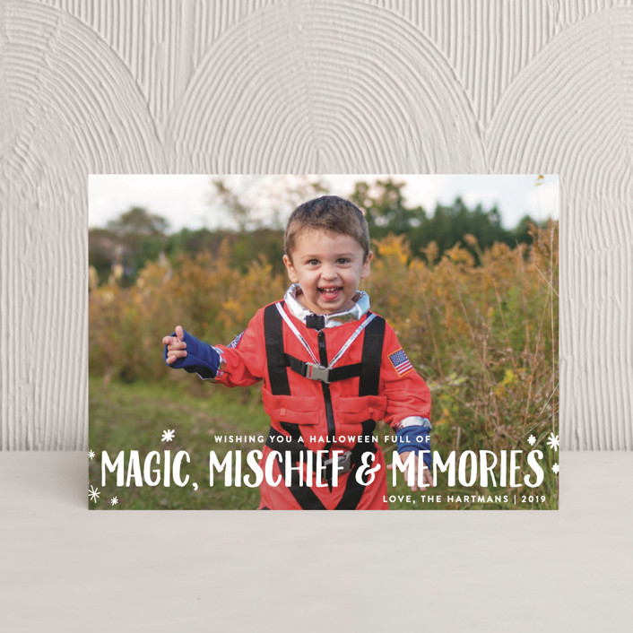 """Magic Mischief"" - Full-Bleed Photo, Simple Halloween Petite Cards in Ghost by Ellis."