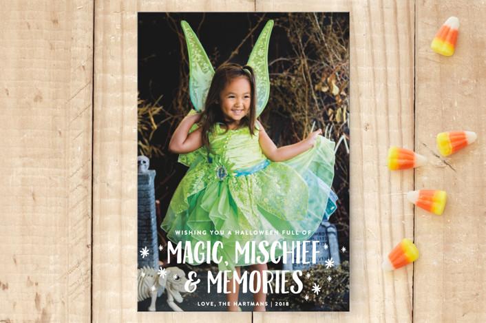"""Magic Mischief"" - Simple Halloween Petite Cards in Snow by Ellis."