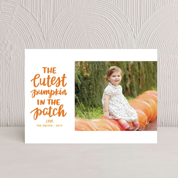 """""""Cutest Pumpkin"""" - Halloween Petite Cards in Pumpkin by Little Print Design."""