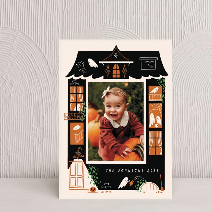 """""""Ghost House"""" - Vintage Halloween Petite Cards in Pumpkin by Grae."""