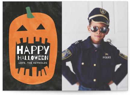 Watercolor Pumpkin Halloween Postcards