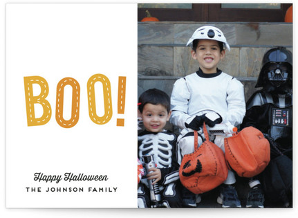 Stitched Boo Halloween Postcards