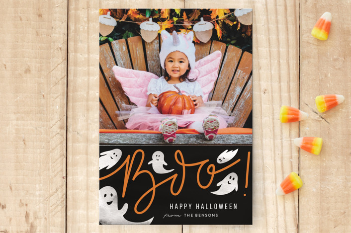 """Friendly Boo"" - Halloween Postcards in Eclipse by Sweta Modi."
