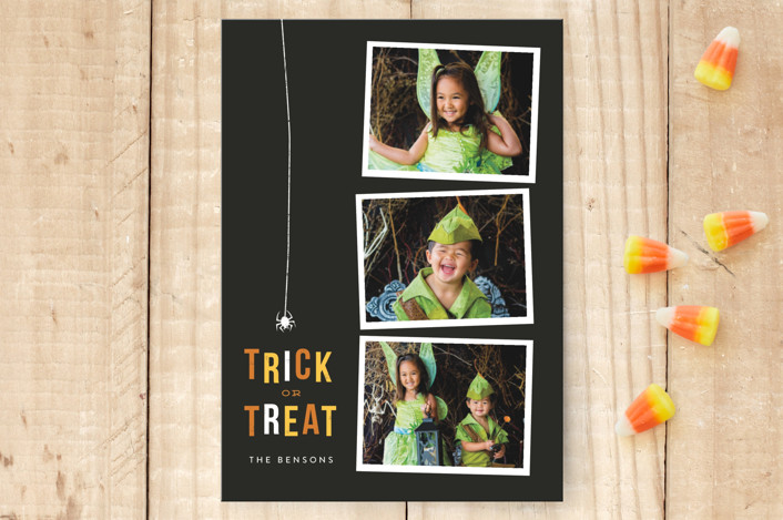 """Tricky Trio"" - Halloween Postcards in Festive by Sweta Modi."