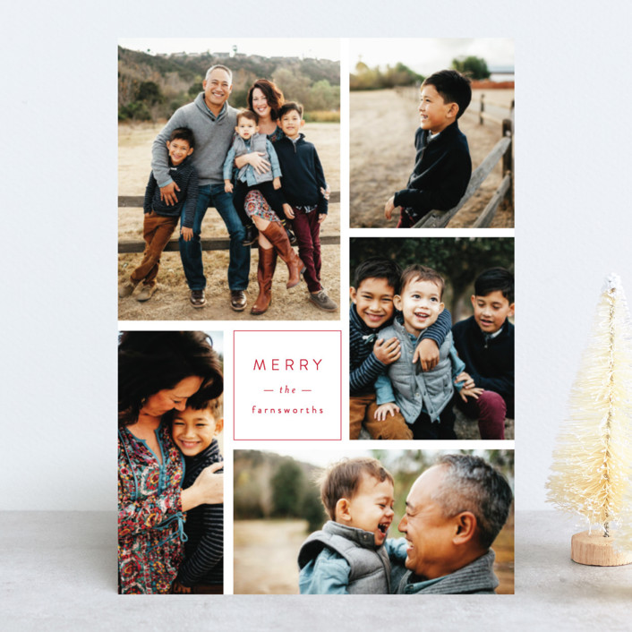 """Multi Fresh"" - Holiday Photo Cards in Apple by Michelle Poe."