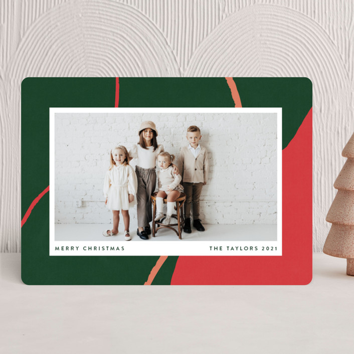 """""""chasm"""" - Modern Holiday Photo Cards in Evergreen by Robin Ott."""