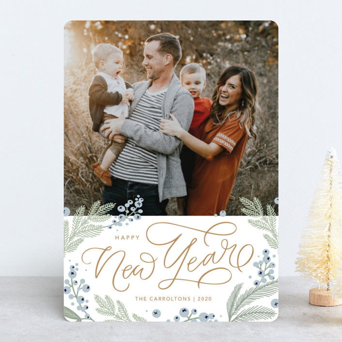 """""""Pretty Pines"""" - Holiday Photo Cards in Juniper by Kristen Smith."""