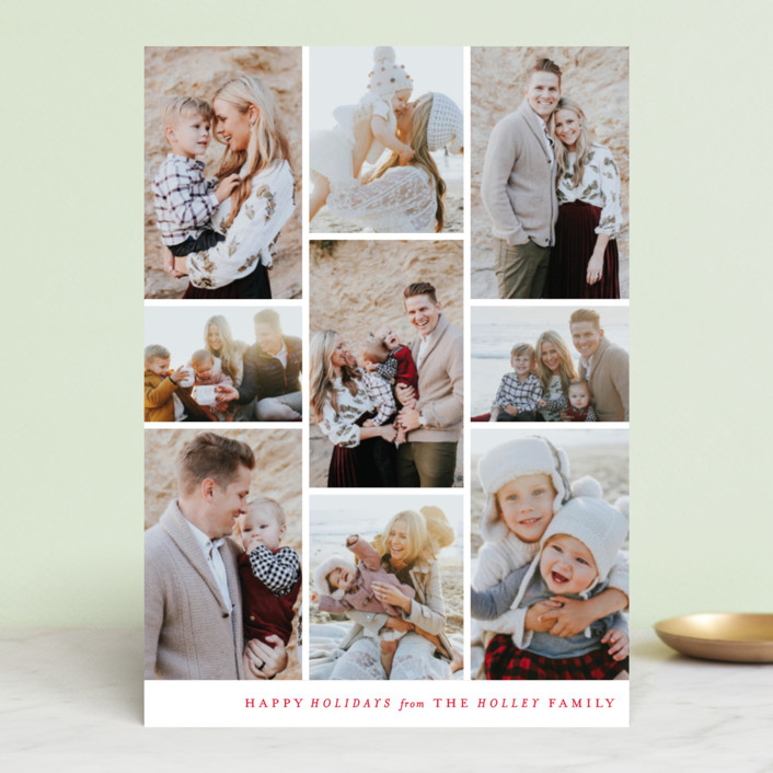 """Columns"" - Holiday Photo Cards in Onyx by Ella Weaver."