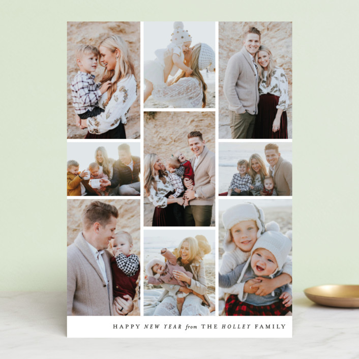 """""""Columns"""" - Holiday Photo Cards in Onyx by Ella Weaver."""