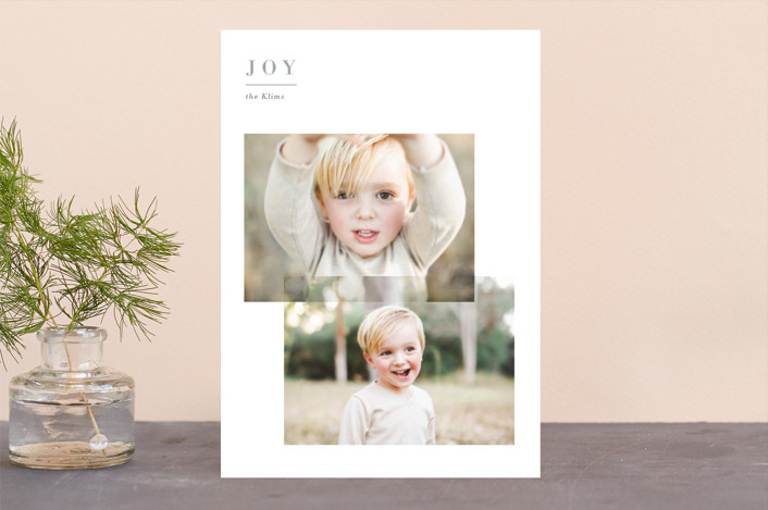 """""""Editorial Joy"""" - Holiday Photo Cards in Snow by Jennifer Lew."""