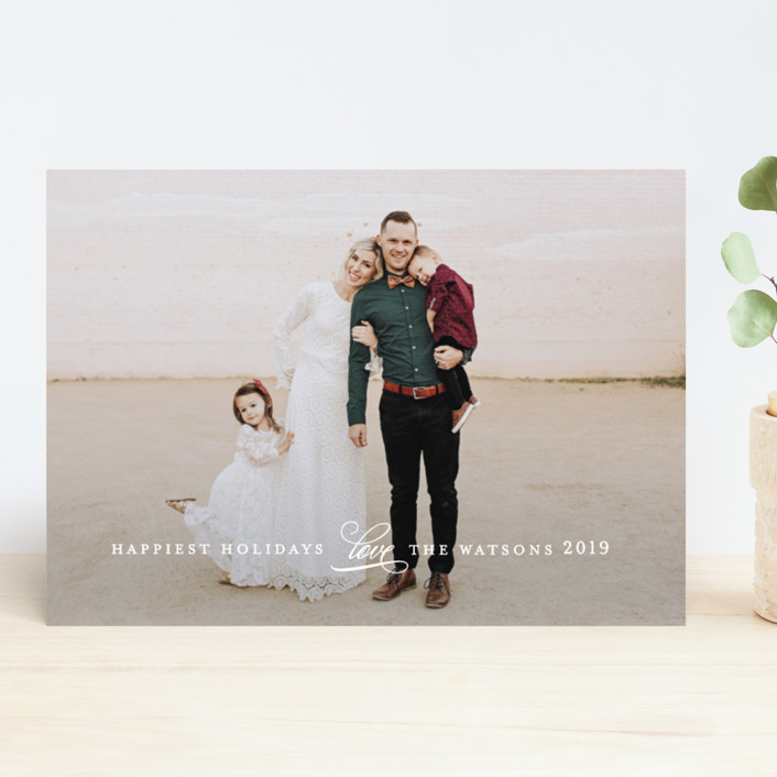 """""""Understated"""" - Holiday Photo Cards in Winter by Jennifer Wick."""
