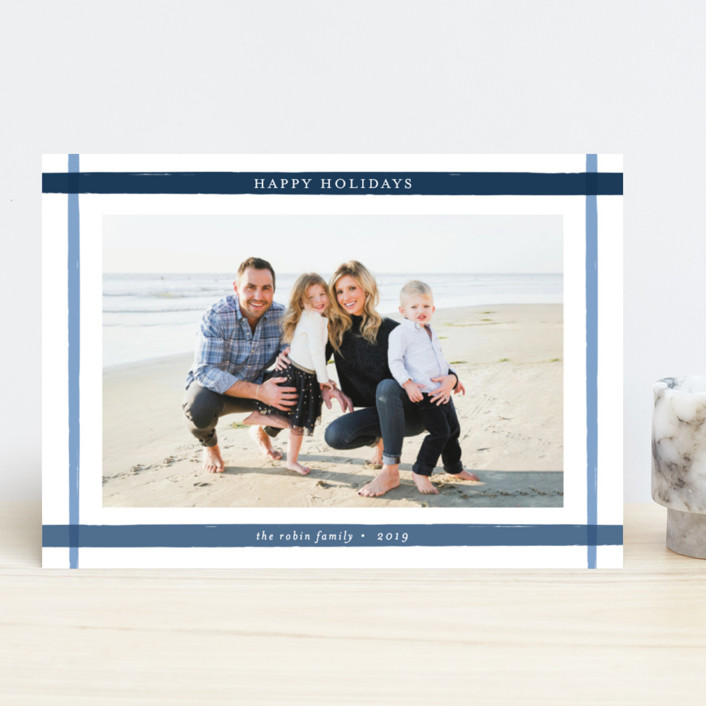 """""""Brushed Frame"""" - Holiday Photo Cards in Ocean by Annie Shapiro."""