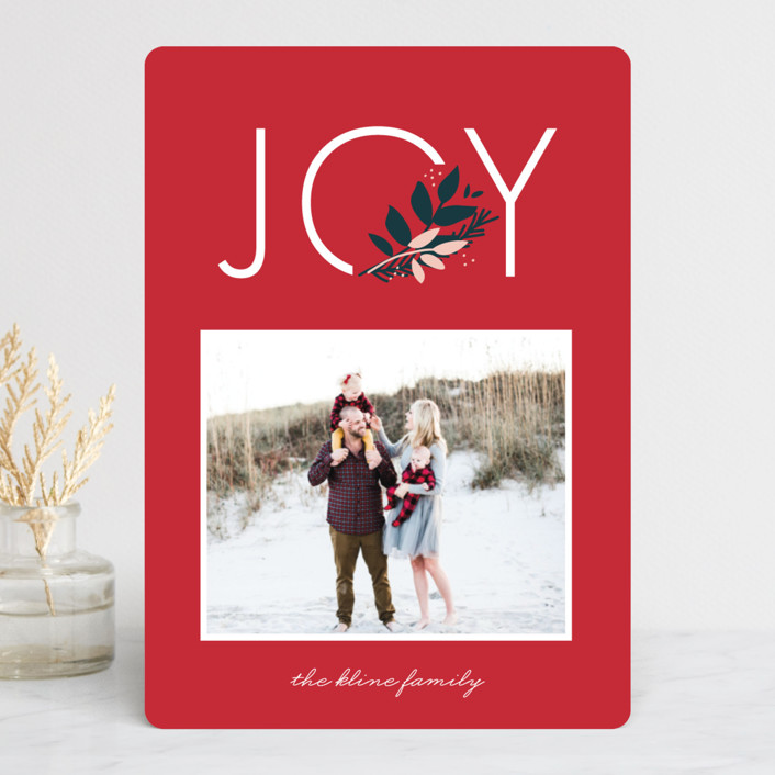 """""""Joy to You"""" - Holiday Photo Cards in Berry by lena barakat."""