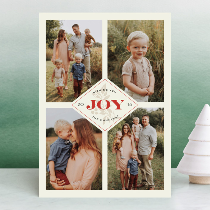 """""""All Spruced Up"""" - Vintage Holiday Photo Cards in Champagne by Chris Griffith."""