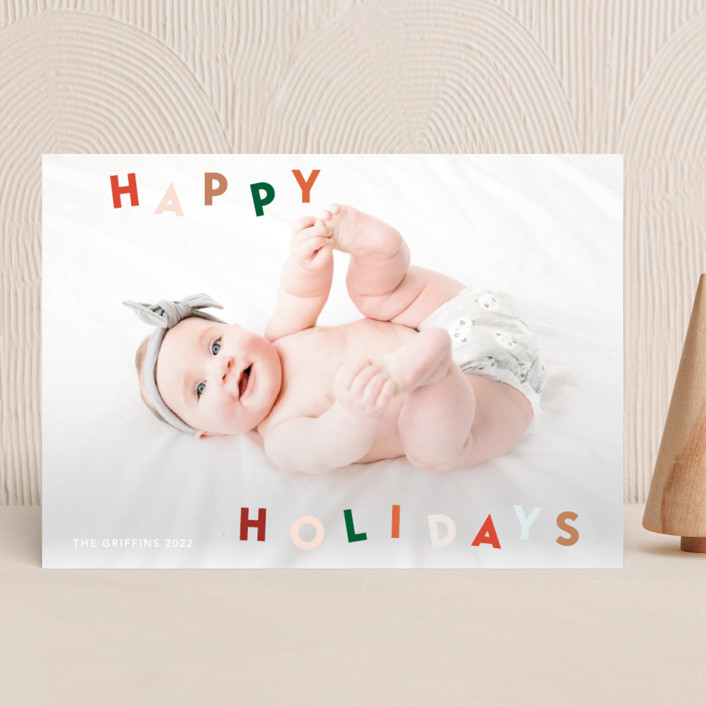 """""""Dancing holidays"""" - Holiday Photo Cards in Candy by Yaling Hou Suzuki."""