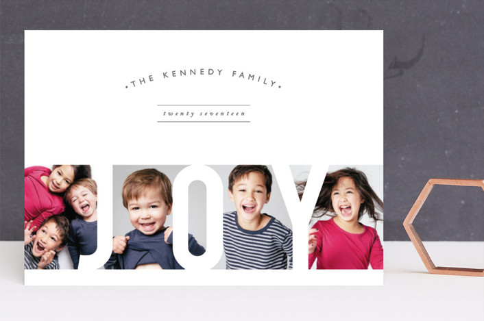 """""""Brothers & Sisters"""" - Holiday Photo Cards in Snow by Playground Prints."""