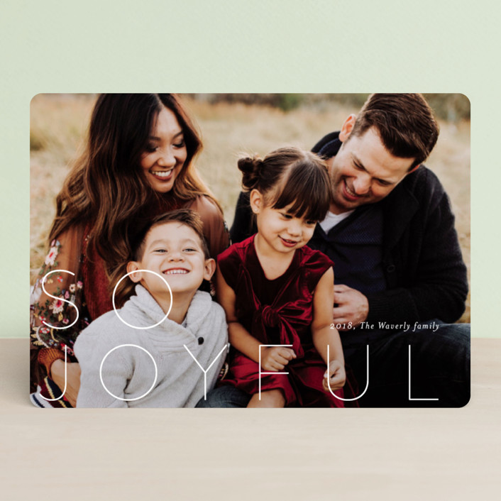 """""""S O  M E R R Y"""" - Holiday Photo Cards in Frosting by Stacey Meacham."""