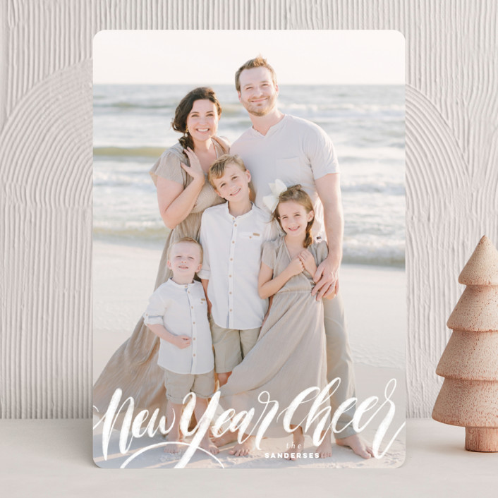 """All is Bright"" - Holiday Photo Cards in Frost by Pink House Press."