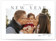 This is a black holiday photo card by Jessica Williams called Felicite with standard printing on smooth signature in standard.