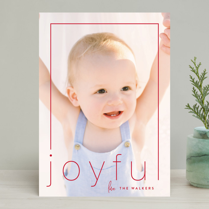 """""""joypoint"""" - Holiday Photo Cards in Holly by Sara Hicks Malone."""
