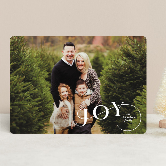 """Stairstep"" - Holiday Photo Cards in Snow by Lauren Chism."