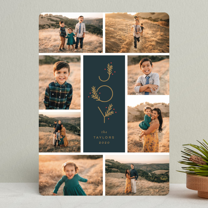 """Collected Joy"" - Holiday Photo Cards in Midnight by Michelle Taylor."