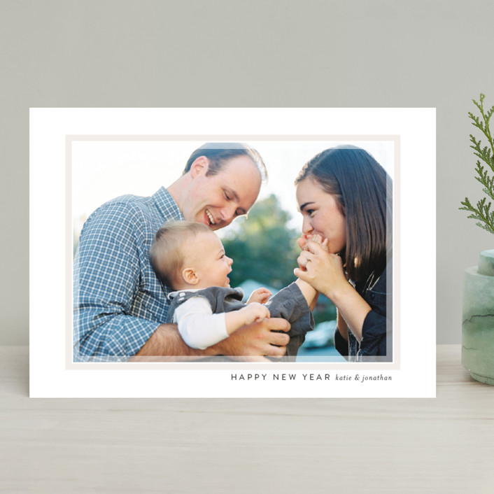 """Softest Frame"" - Holiday Photo Cards in Cream by Jessica Williams."